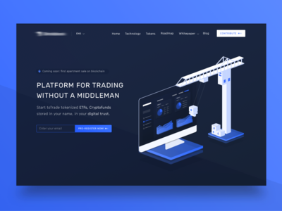 Under construction page for blockchain investment platform analytics design dashboard app clean interface ux ui investment real estate cryptocurrency website