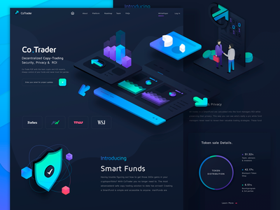 Crypto Currency Trade Website website ui trading smart contract landing interface finance exchange design crypto blockchain bitcoin
