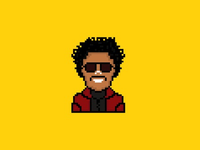 Pixel Art / The Weeknd 8bits the weeknd painting photoshop illustrator illustration pixel artist 8bit pixel art pixel
