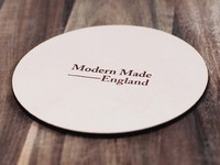 Modern Made — Leather Coaster