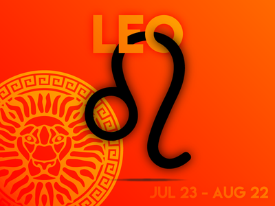 LEO summer zodiac lion orange red fire leo