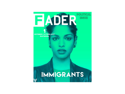 The Fader: Political Issue politics music magazine