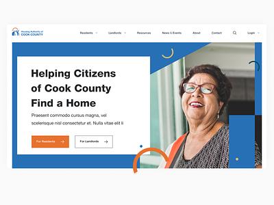 Housing Authority Home hero web design homepage