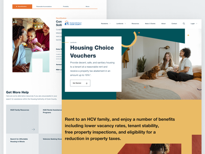 Housing Authority Pages colorful web design government
