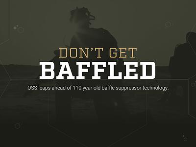 Don't Get Baffled Hero Image typography hero homepage slab serif hexagon military