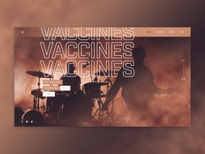 The Vaccines - Concert concert band type art industry web ux ui vaccines