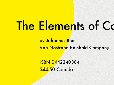 The Elements Of Color swiss minimal weight balance futura blue yellow red color cover book