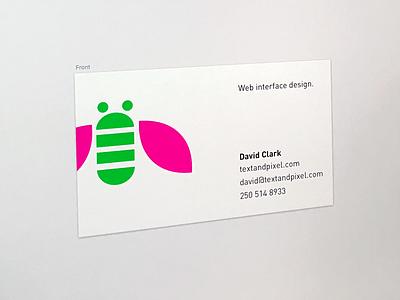 Business Card business card colourful minimal din