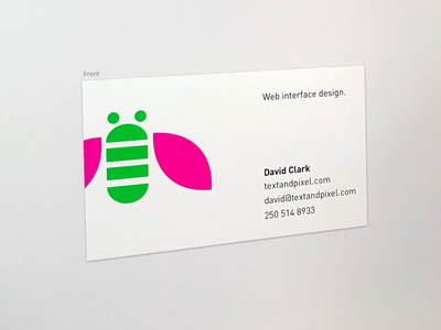 Business Card business card colourful minimal din
