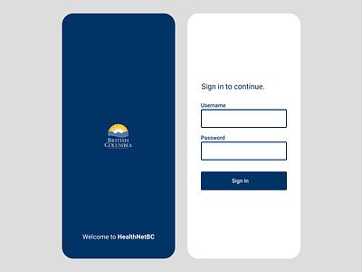 Mobile Login Screen sign in password username login mobile app