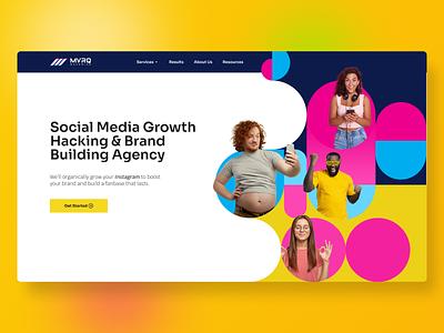 MVRQ Maverick - Social Media Agency Website (Redesign Concept) sales funnels ads instagram hacking growth maverick website reskin website agency socail media