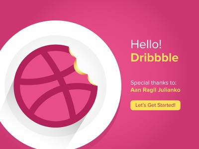Hello Dribbble logo illustration icon