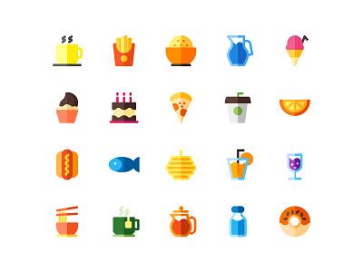 Food Icon flat website branding ui design illustration icon