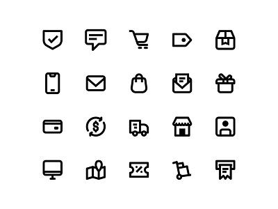 commerce and shopping art app website web vector ux flat ui branding icon