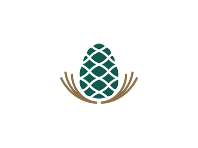 Pine Nuts Company mark icon corporate design identity branding logo seeds seed kernel pine tree pinenut pine