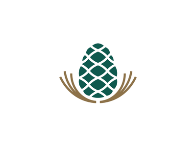 Pine Nuts Company mark icon corporate design identity branding logo seeds seed kernel pine tree pinenut pine