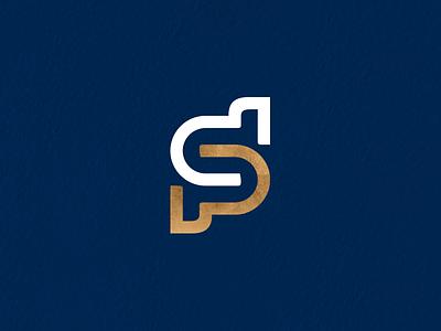 Psychologist Logo icon mark design identity branding logo gold blue psychological psychologist psychology letter dsp dp