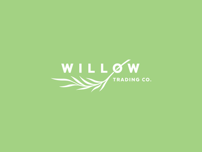 Trading Company identity corporate branding design logo leaf tree export import trading willow