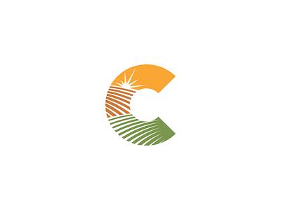 Agriculture Logo Design food sun earth plant farm agriculture concept c letter