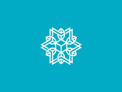 Agricultural and Cold Storage Logo Design winter snowflake snow leaf cool blue package packaging box farm agricultural storage cold agriculture