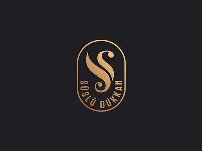 Fancy  Store swan jewelry shop jewelry ornate monogram logo icon letter sd store fancy
