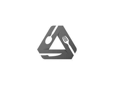Restaurant Group Companies Logo Design triangle a letter logo a logo knife spoon fork icon design identity logo branding company food restaurant