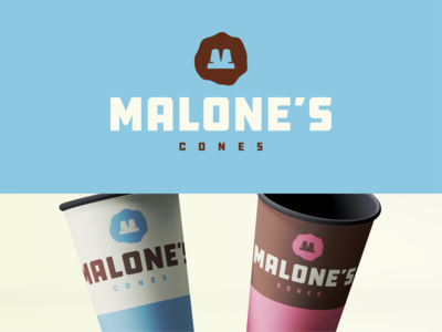 Malone's Cones icon illustration the office series brand design design typography branding the office madewithmako vector logo