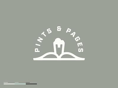 Pints & Pages anchor ocean beach coastal beer design beer branding reading bookstore books brewery beer branding design illustration design brand design madewithmako branding vector typography logo