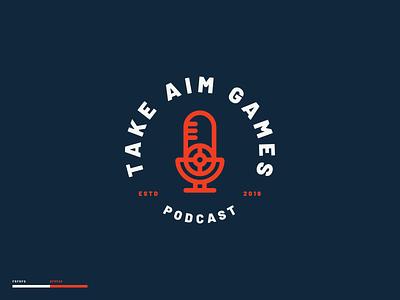 Take Aim Games lettering illustration branding design design brand design madewithmako branding vector typography logo