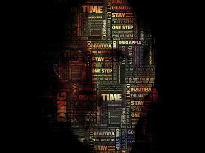Steve Jobs Typography Portrait