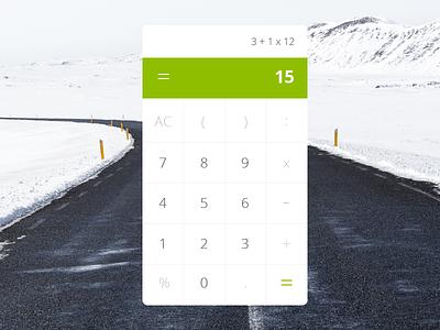 Calculator - Daily UI #004 004 ui interface flat design calculator dailyui