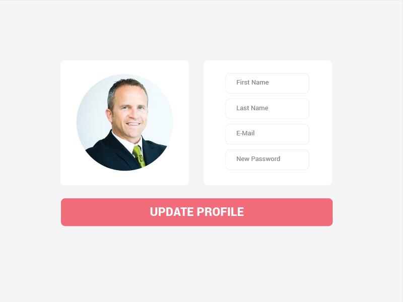 Profile Update Page - Daily UI 006 design ux ui profile page profile