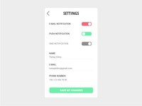 Settings - Daily UI 007