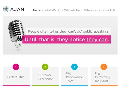 Ajan Consulting Web Development responsive mobile jquery css frontend html