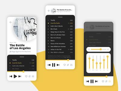 Concept of Music player mobile app audio player audio app yellow music player music app ui flat mobile app design ux android app design ios app design app minimal design