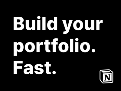 How to build your portfolio fast!