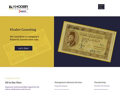 Khodeir Consulting Financial Firm design we ui
