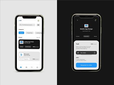 Mobile App UI Design eyecatching app ui ui modern minimal design