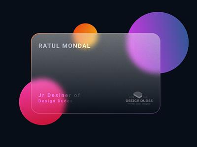 Glass Card busniesscard card eye catching modern minimal design