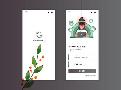 App Design app design typography branding app ui ui eye catching modern minimal design