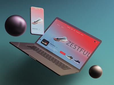 Web UI eyecatching web website product ui ecommerce branding ui modern minimal design