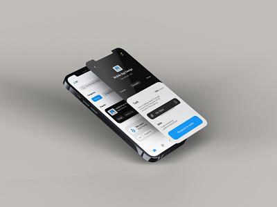 App Design eye catching typography app ui branding ui modern minimal design