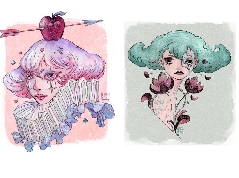 Portrets design procreate character lineart chracterdesign digital art illustration angryalbatros