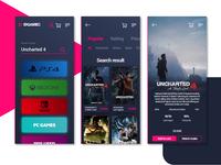 Game shop app concept