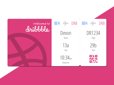 Graduation from Behance devon thomas debut boarding pass