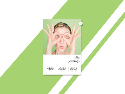 User Profile Concept simple card green daily ui daily ui 006 follow button user profile