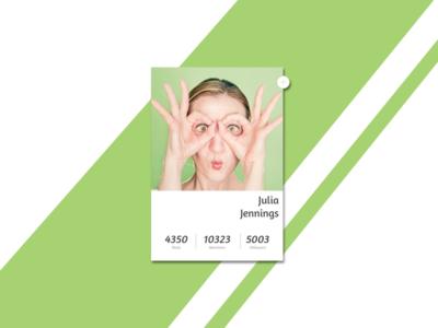 User Profile Concept simple card green daily ui daily ui 006 follow button user profile