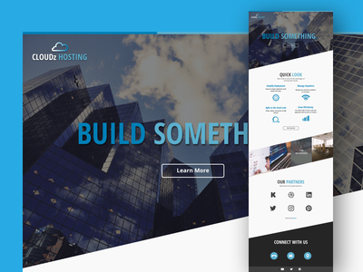 Landing Page for Web Hosting Client one page responsive web design web website landing page