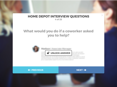 Interview Questions Modal web interview modal