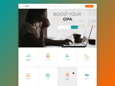 GetPrep - Tutoring Company Website